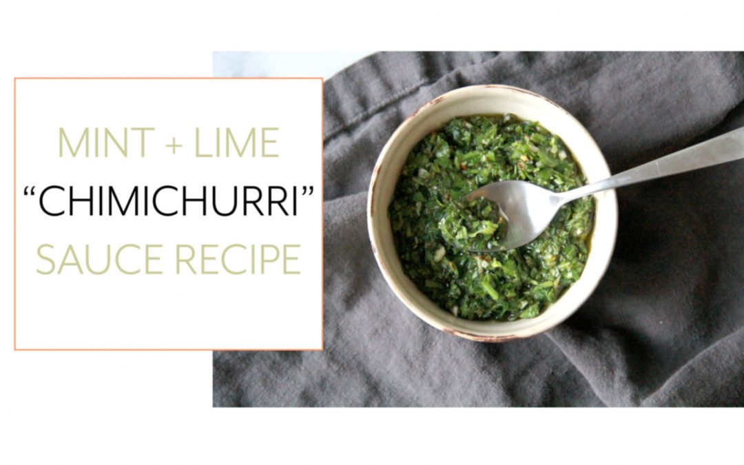 Mint and Lime Chimichurri Sauce Recipe